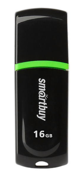флешка USB SmartBuy Paean 16GB black