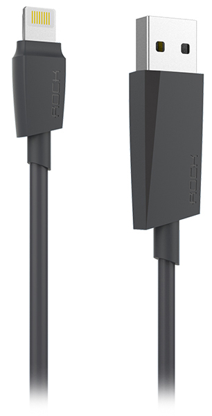 кабель для iPhone Rock Lightning to USB MFI M3 Round cable 1,0 м black
