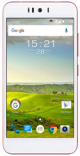 4G смартфон Fly FS520 red