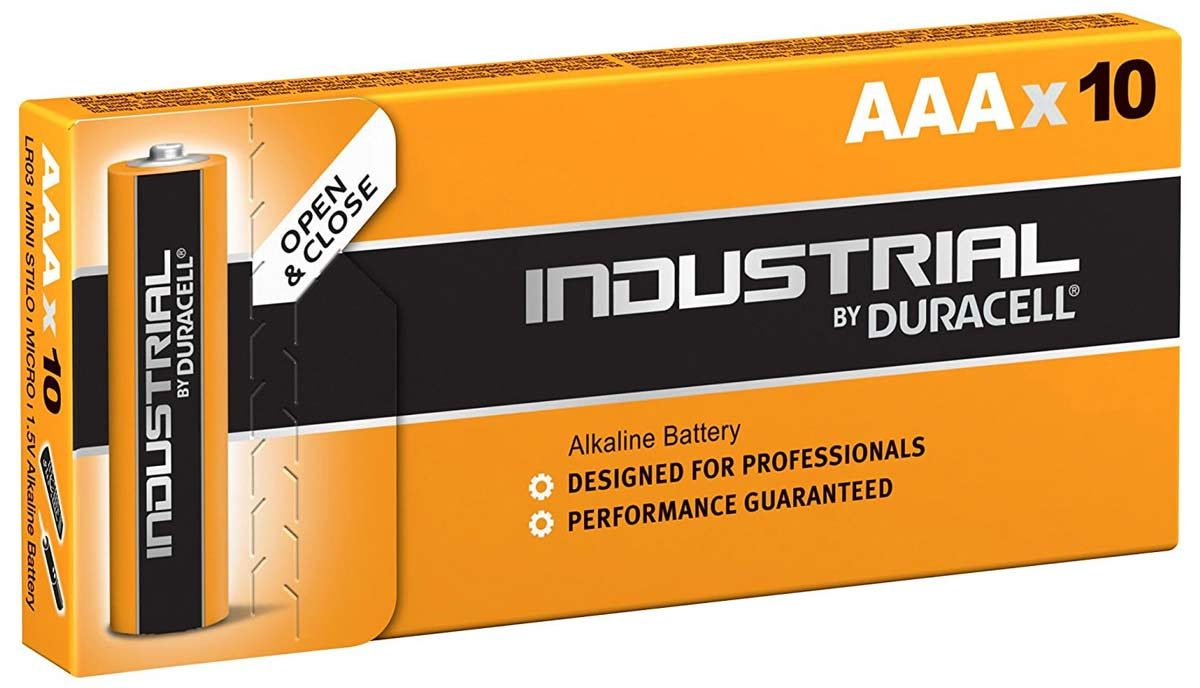 батарейки мизинчиковые (10 шт) Duracell LR03 INDUSTRIAL-10BOX