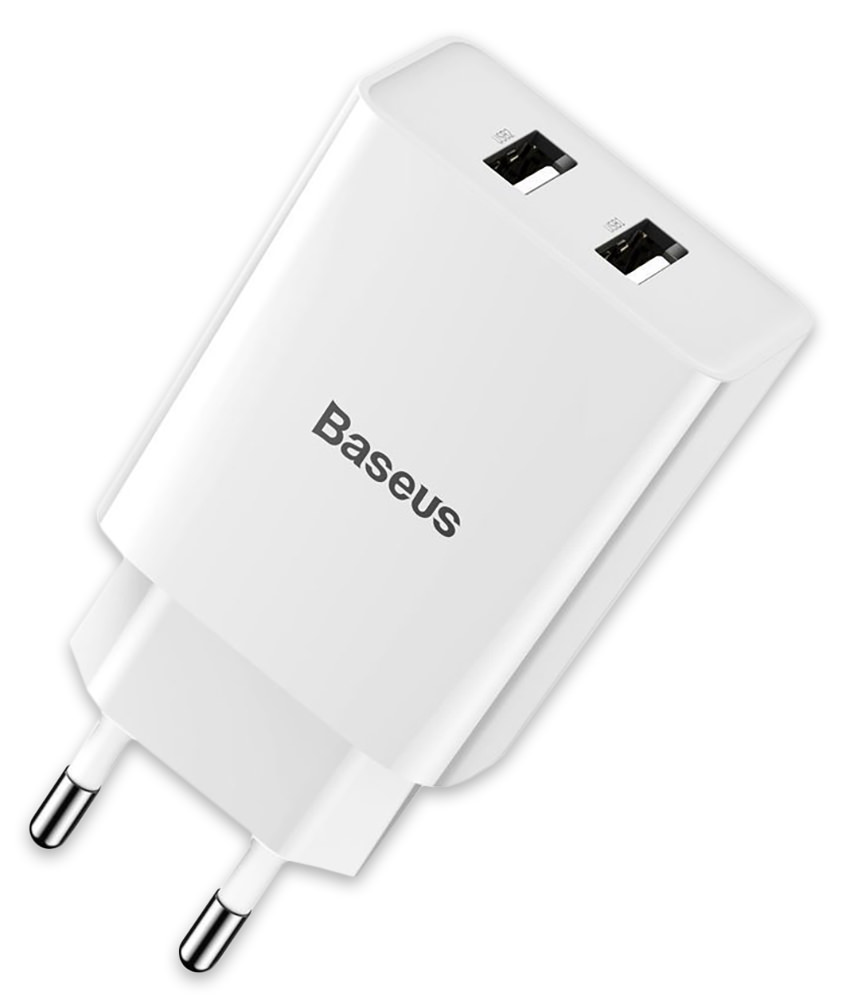 зарядное устройство Baseus Speed Mini Dual U Charger 10.5W white
