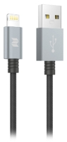 кабель передачи данных Rock Space MFI Metal Charge & Sync round cable 100 cm